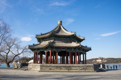 Asien China, Peking, der Sommer-Palast, quadratischer Pavillon acht Lizenzfreies Stockbild