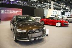 Asien China, Peking, nationales Convention Center, importieren Selbstausstellung lizenzfreies stockbild