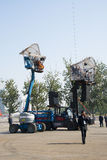 In Asien China, Peking, Olympiapark, die Spinne, die französische mechanische Parade Lizenzfreies Stockfoto