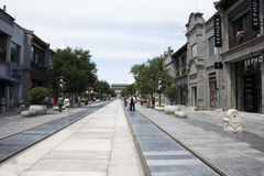 Asien, China, Peking, Qianmen-Straße, Einkaufsstraße, Wegstraße Lizenzfreies Stockbild