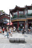 Asien, China, Peking, Qianmen-Straße, Einkaufsstraße, Wegstraße Stockfotografie