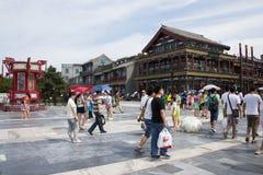 Asien, China, Peking, Qianmen-Straße, Einkaufsstraße, Wegstraße Lizenzfreies Stockfoto