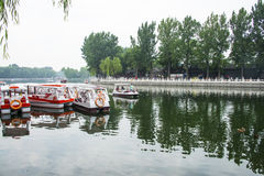 Asien China, Peking, Shichahai szenisch, Sommer, Lakeï-¼ ŒSightseeing-Boot Stockfotos