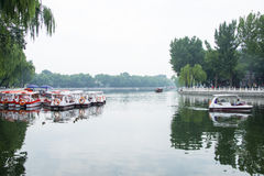 Asien China, Peking, Shichahai szenisch, Sommer, Lakeï-¼ ŒSightseeing-Boot Stockbild