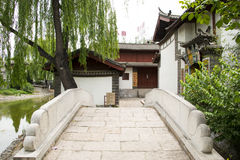 Asien-Chinese, Peking, China Minzu Yuan, Naxi-minorityï ¼ ŒResidence Stockfotografie
