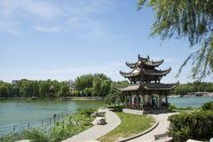 Asien-Chinese, Peking, Taoranting-Park, achteckiger Pavillon Lizenzfreie Stockfotografie
