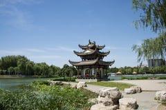 Asien-Chinese, Peking, Taoranting-Park, achteckiger Pavillon Stockfotos