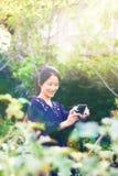 Asien flickaselfie Arkivbild