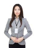 Asien-Geschäftsfrau portarit stockfotografie