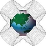 Asien im Netz Stockbilder