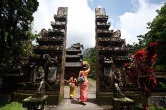 ASIEN INDONESIEN BALI PURA TANAH LOTTTEMPEL Royaltyfri Fotografi