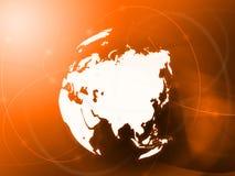Asien-Karte Lizenzfreies Stockbild