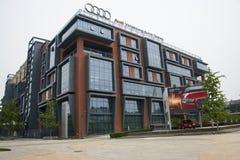 Asien Kina, Peking, 798 Art District, Audi Asia ny forskning och utvecklingsmitt Royaltyfria Bilder