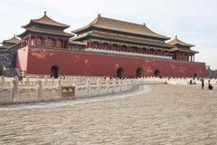 Asien Kina, Peking, den imperialistiska slotten, historien av byggnaden, kunglig port för Palaceï ¼Œthe meridian Royaltyfria Bilder