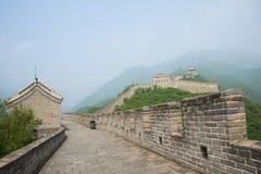 Asien Kina, Peking, den stora väggen Juyongguan, Arkivbild