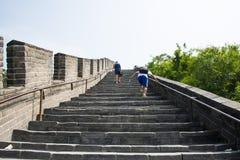 Asien Kina, Peking, den stora väggen Juyongguan, moment Arkivbild