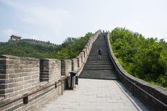 Asien Kina, Peking, historiska byggnader, den stora väggen Juyongguan, Arkivbilder