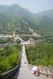 Asien Kina, Peking, historiska byggnader, den stora väggen Juyongguan, Royaltyfria Foton