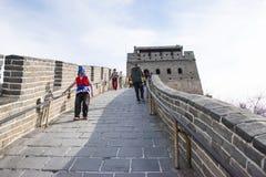 Asien Kina, Peking, historiska byggnader som badaling den stora väggen Royaltyfri Bild
