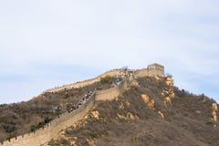 Asien Kina, Peking, historiska byggnader som badaling den stora väggen Royaltyfri Fotografi
