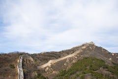 Asien Kina, Peking, historiska byggnader som badaling den stora väggen Fotografering för Bildbyråer