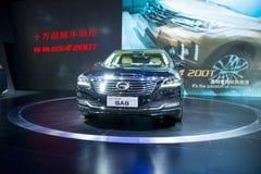 Asien Kina, Peking, internationell utställning för bil 2016, inomhus mässhall, denslut affärsbilen, trumpchi GA8 Arkivbild