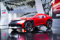 Asien Kina, Peking, internationell utställning för bil 2016, inomhus mässhall, Chery begreppsbil FV2030 Arkivfoto