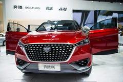 Asien Kina, Peking, internationell utställning för bil 2016, inomhus mässhall, Pentium X6, begreppsbil, Royaltyfri Bild
