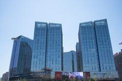 Asien Kina, Peking, modern arkitektur, landet röstade rikedomfyrkanten Fotografering för Bildbyråer