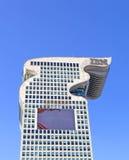 Asien Kina, Peking, moderna byggnader, Pangu Plaza Royaltyfria Bilder