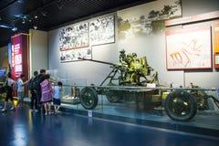 Asien Kina, Peking, museum av kriget av folkmotstånd mot den ŒIndoor för japanAggressionï ¼ utställningen Arkivbild