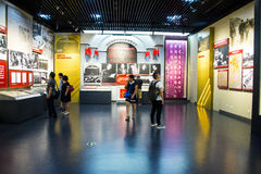 Asien Kina, Peking, museum av kriget av folkmotstånd mot den ŒIndoor för japanAggressionï ¼ utställningen Arkivfoto