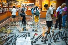 Asien Kina, Peking, museum av kriget av folkmotstånd mot den ŒIndoor för japanAggressionï ¼ utställningen Royaltyfri Foto