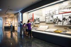 Asien Kina, Peking, museum av kriget av folkmotstånd mot den ŒIndoor för japanAggressionï ¼ utställningen Royaltyfri Bild