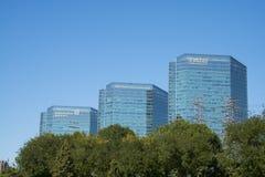 Asien Kina, Peking, område för central affär för CBD, CENTRALT STÄLLE KINA Arkivfoton