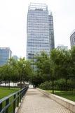 Asien Kina, Peking, område för central affär för CBD, internationellt stadsaffärskomplex, modern arkitektur Arkivfoto