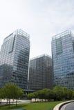 Asien Kina, Peking, område för central affär för CBD, internationellt stadsaffärskomplex, modern arkitektur Fotografering för Bildbyråer