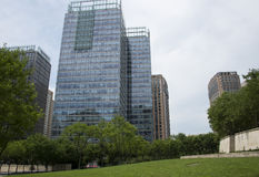 Asien Kina, Peking, område för central affär för CBD, internationellt stadsaffärskomplex, modern arkitektur Royaltyfri Fotografi