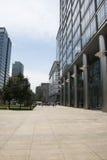 Asien Kina, Peking, område för central affär för CBD, internationellt stadsaffärskomplex, modern arkitektur Arkivbild