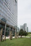 Asien Kina, Peking, område för central affär för CBD, internationellt stadsaffärskomplex, modern arkitektur Arkivbilder