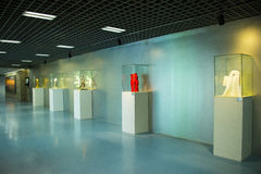 Asien Kina, Peking som planerar mässhallen, inomhus utställninghallï¼ Œ Arkivfoto