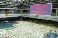 Asien Kina, Peking som planerar mässhallen, modell för stads- planläggning Arkivbild