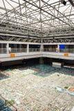 Asien Kina, Peking som planerar mässhallen, modell för stads- planläggning Arkivbilder