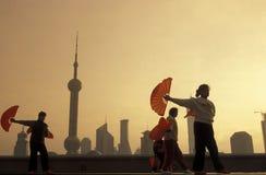 ASIEN KINA SHANGHAI Fotografering för Bildbyråer