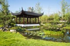 Asien Kina, Wuqing, Tianjin, grön expo, paviljong, galleri Arkivfoton