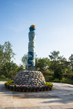Asien Kina, Wuqing Tianjin, grön expo, totempåle Arkivbilder