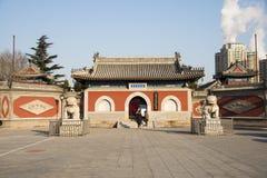Asien kines, Peking, Dazhongsi forntida Klocka museum Royaltyfri Foto