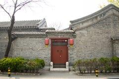 Asien kines, Peking, Hutong uppehåll Arkivbild