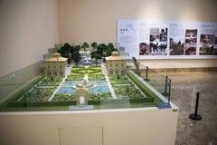 Asien kines, Peking, Kina trädgårds- museum, inomhus mässhall Royaltyfri Foto