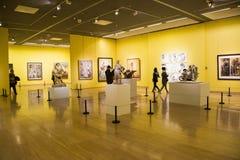 Asien kines, Peking, kines Art Museum, inomhus mässhall arkivfoto